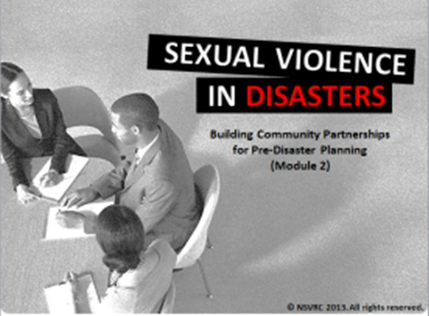 Sexual Violence in Disasters Module 2 Thumbnail Image