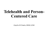 telehealth and person-centered cate