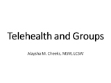 telehealth and groups